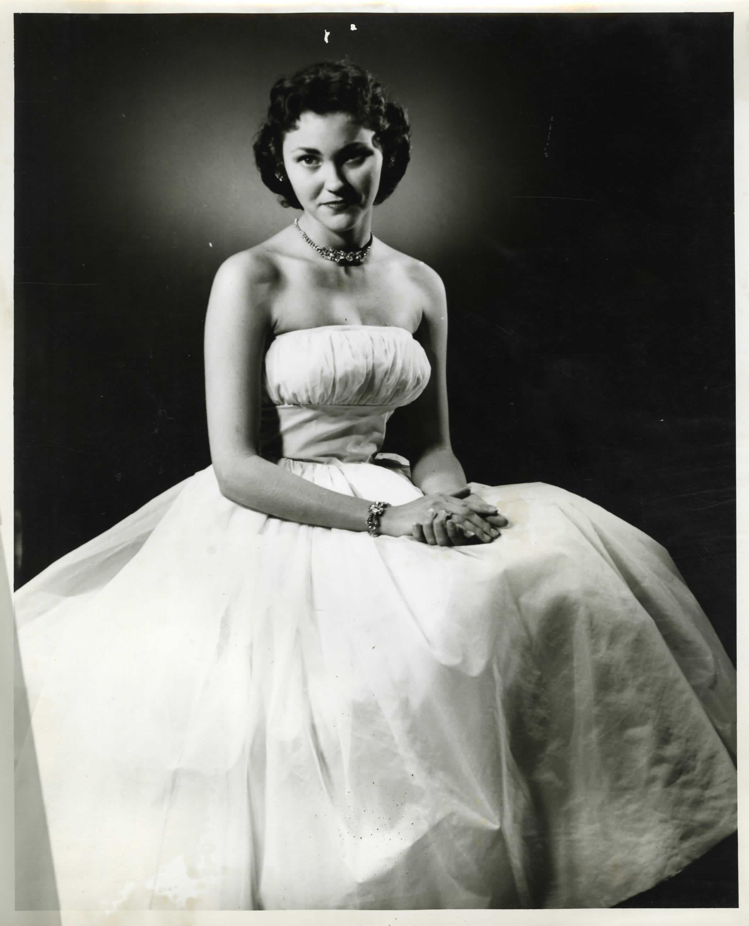 Claudette Yancey, Miss Denton Pageant contestant, 1954.