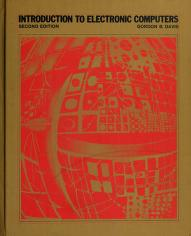 Cover of: Introduction to electronic computers | Gordon Bitter Davis