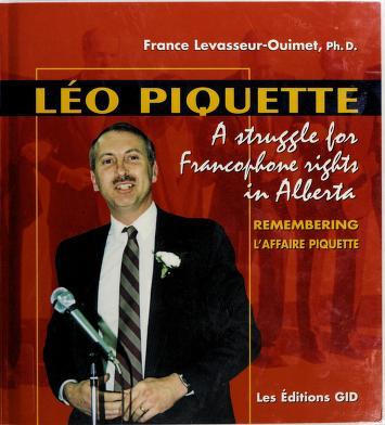 Cover of: Léo Piquette   France Levasseur-Ouimet