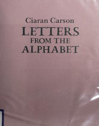 Cover of: Letters from the alphabet | Ciaran Carson