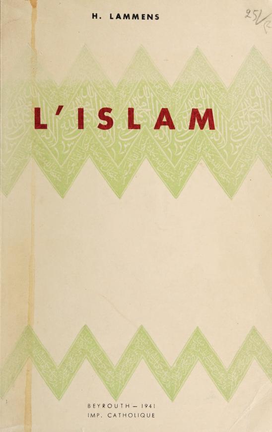 L' islam by Henri Lammens