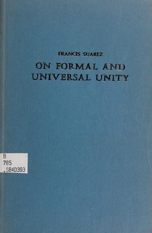 On formal and universal unity by Suárez, Francisco