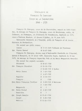 Cover of: Procès de François De Chavigny, sieur de la Chevrotière, condamné à pourvoir aux besoins de la progéniture de son enfant avec Marguerite Jasselin de Montréal, le 13 mai 1675 | Nouvelle-France. Conseil souverain