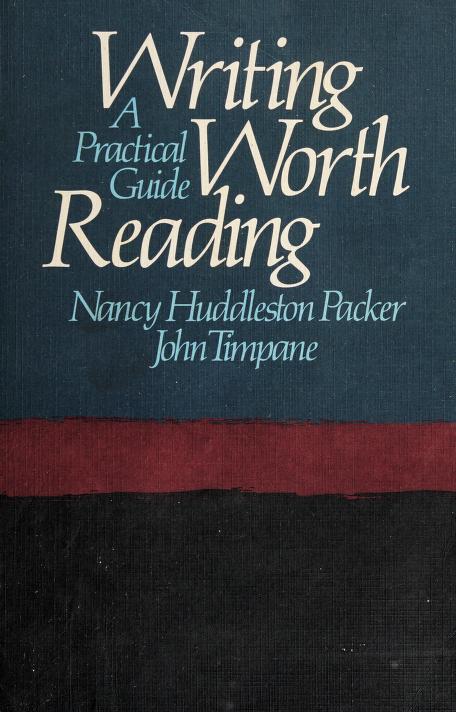 Writing worth reading by Nancy Huddleston Packer